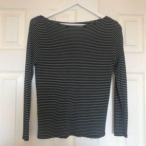 {Mango} MNG Suit Black & White Horizontal Stripes